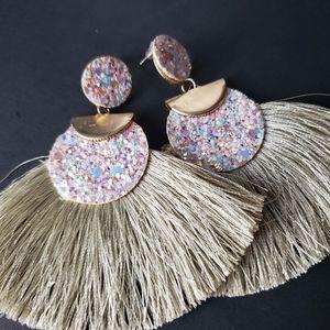 Hand Crafted Design Tassel Earrings